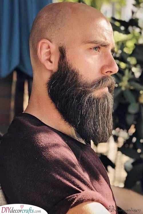 Trendy and Masculine - Beard Style for Bald Men