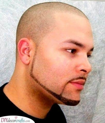 A Thin Line - Shaved Head with Beard Styles
