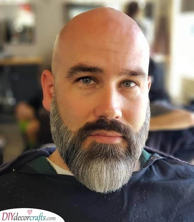 Simple and Full - Beard Style for Bald Men