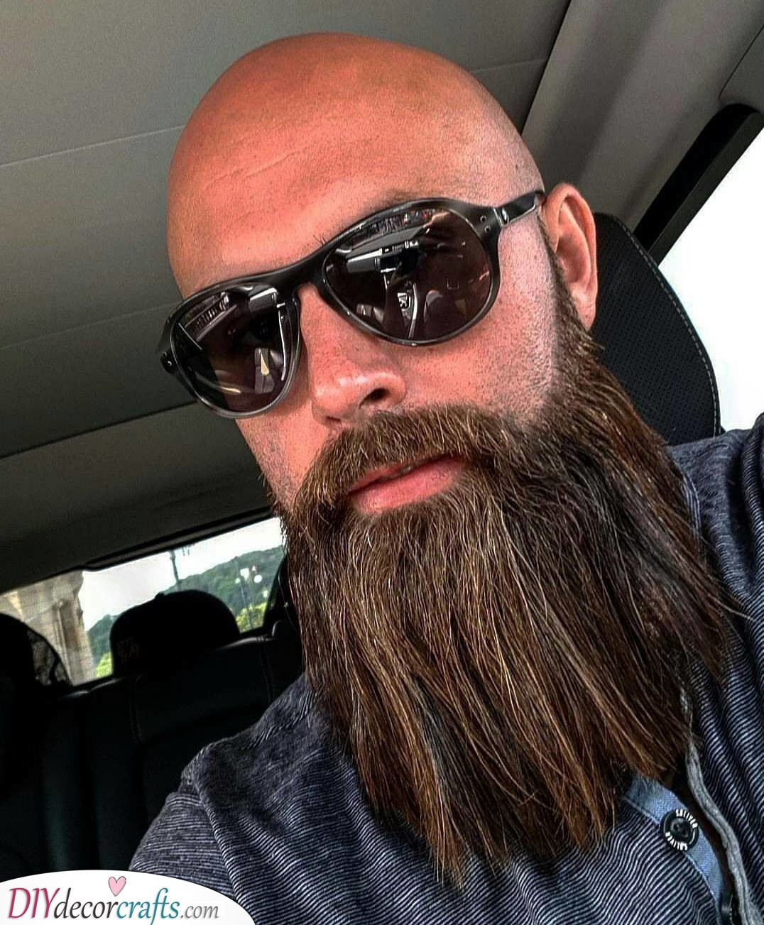 Long and Full - Beard Styles for Bald Guys