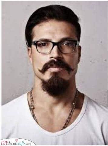 A Unique Moustache - And a Chin Beard