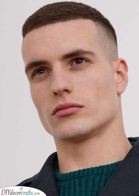 A Super Short Fade - Round Face Haircut Male