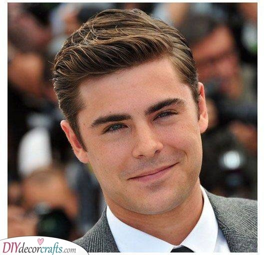 Combed to the Side - Men's Haircut Styles for Round Face