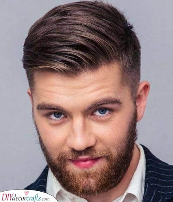A Taper Fade - Round Face Haircut Male