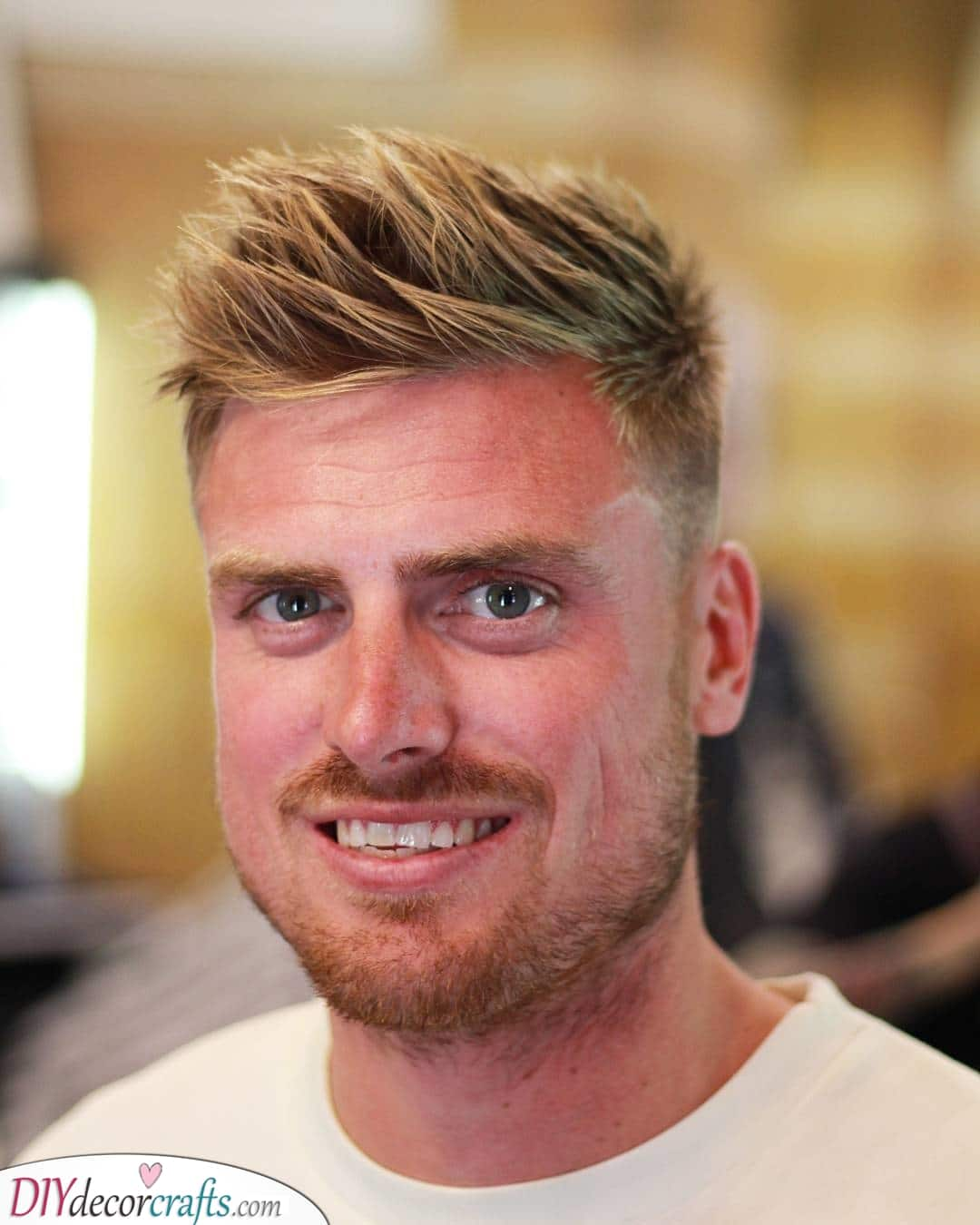 A Messy Quiff - Best Haircut for Round Face Men