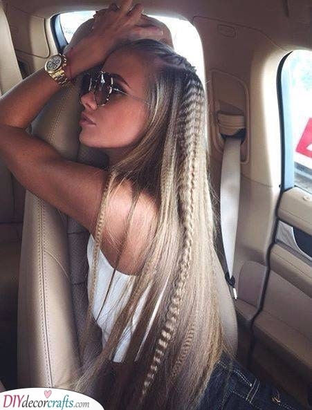 Great for Long Hair - Crimped Hairstyles