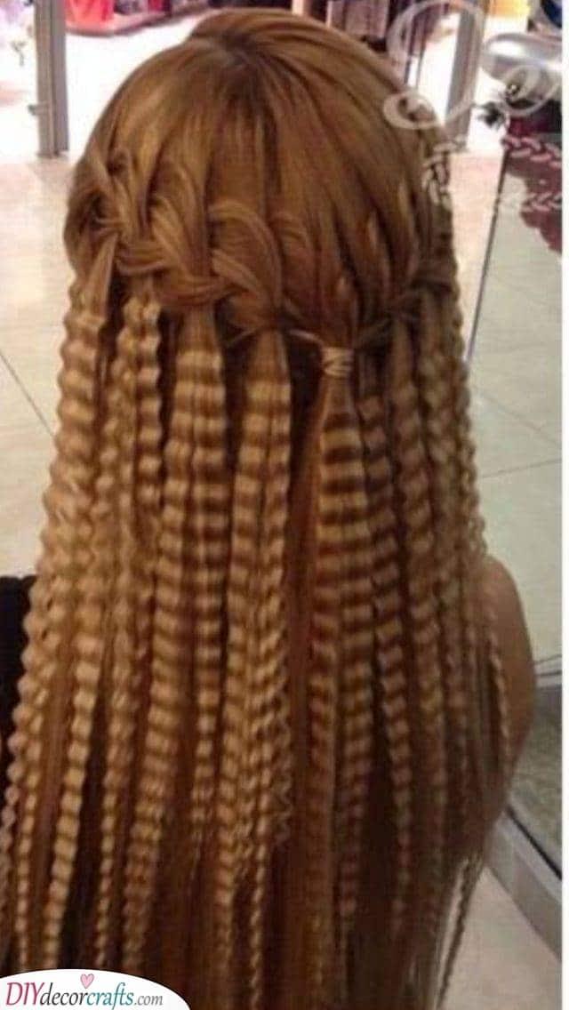 A Waterfall Braid - Creative Crimped Hairstyles