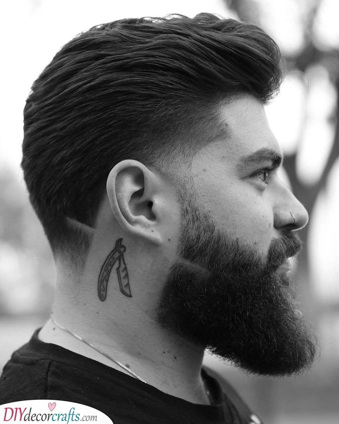 A Ducktail - With a Fade