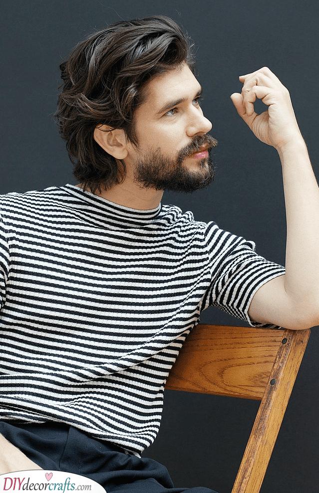 A Bit Shaggy - Medium Length Beard Styles