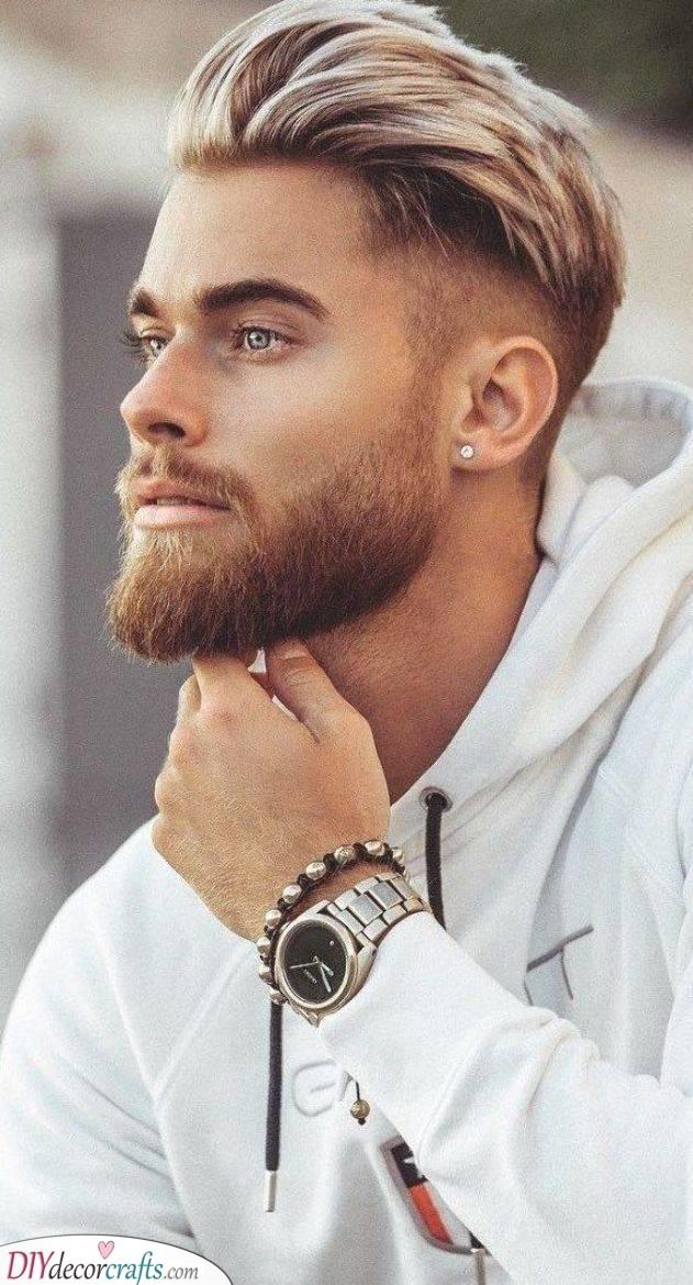 A Beard with an Undercut - Men's Medium Beard Styles