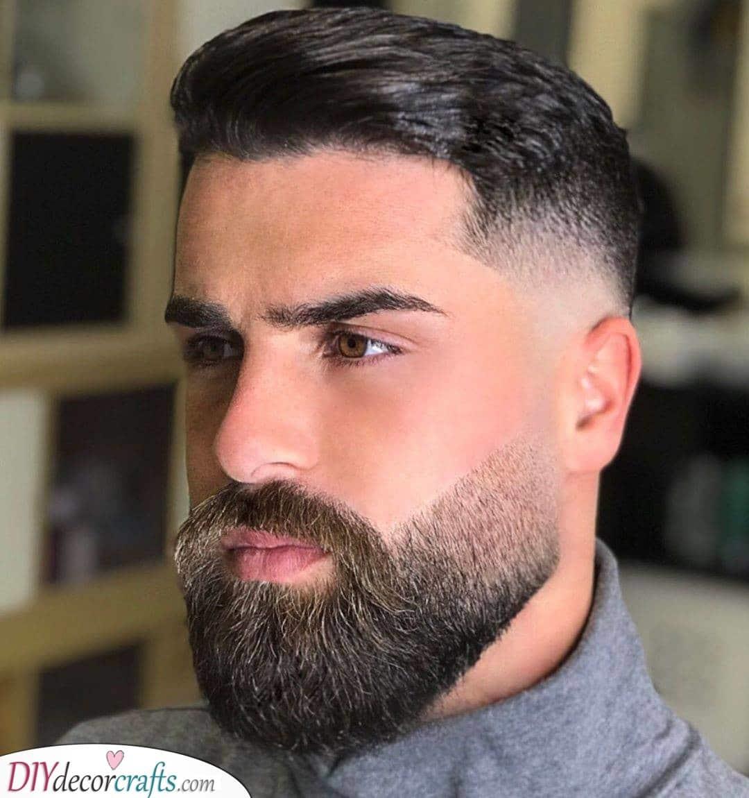 A Faded Undercut and Beard - Medium Length Beard Styles