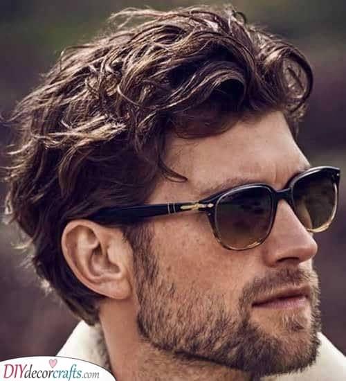 Volume with Waves - Mens Medium Haircuts