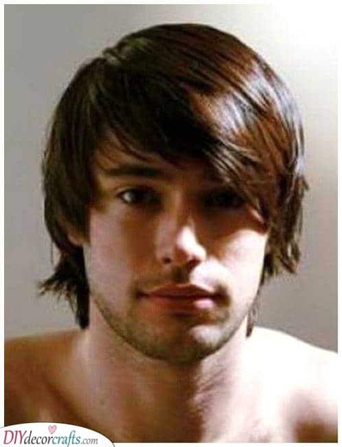 Straight and Shaggy - Men's Medium Haircuts