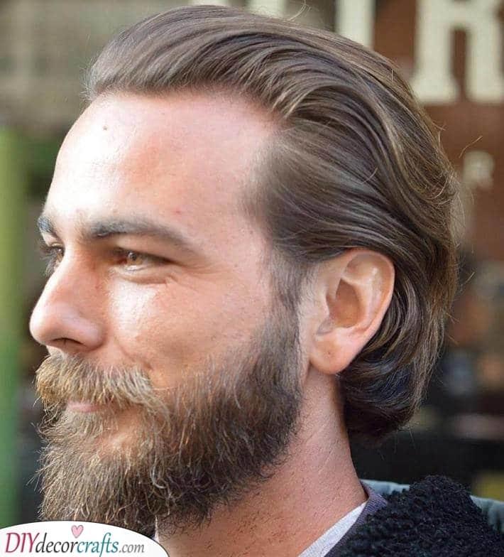Slicking It Back - Mens Medium Haircuts