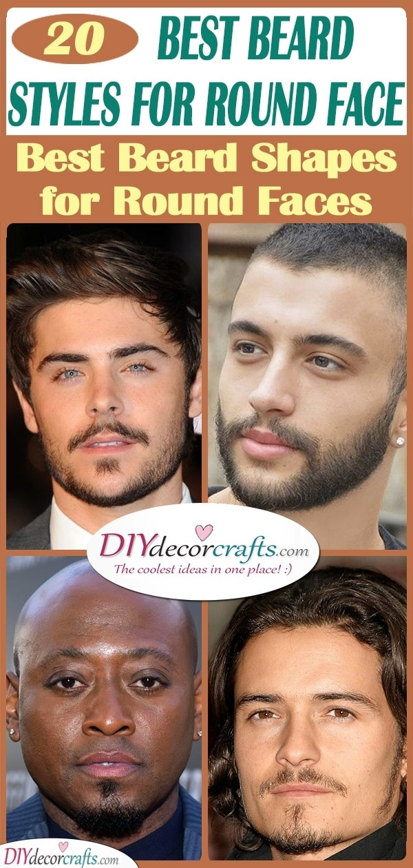20 BEST BEARD STYLES FOR ROUND FACE - Best Beard Shapes for Round Faces