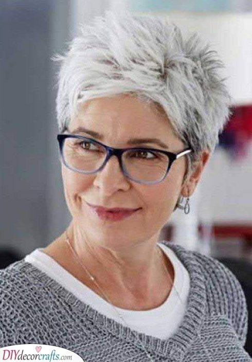 Short and Spikey - Youthful Hairstyles Over 50
