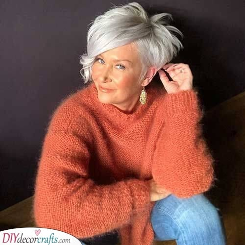 Short with a Side Fringe - Youthful Hairstyles Over 50