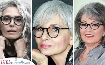 20 HAIRSTYLES FOR 50 YEAR OLD WOMAN WITH GLASSES - Over 50 Hairstyles with Glasses