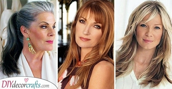 20 LONG HAIRSTYLES FOR WOMEN OVER 50 - Hairstyles for 50 Year Old Woman with Long Hair