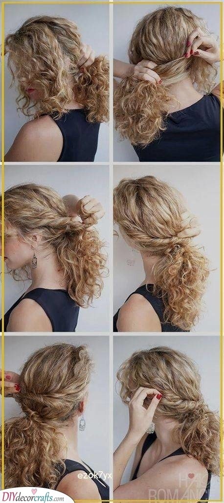 A Gorgeous Ponytail - Curly Hairstyles for Girls