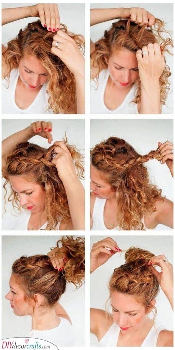 Step by Step - A Braided Bun
