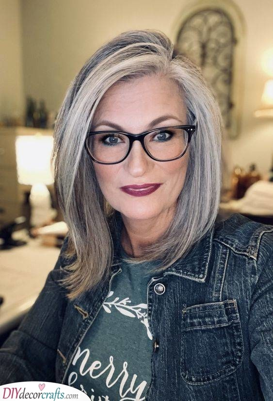 Swept to the Side - Over 50 Hairstyles with Glasses