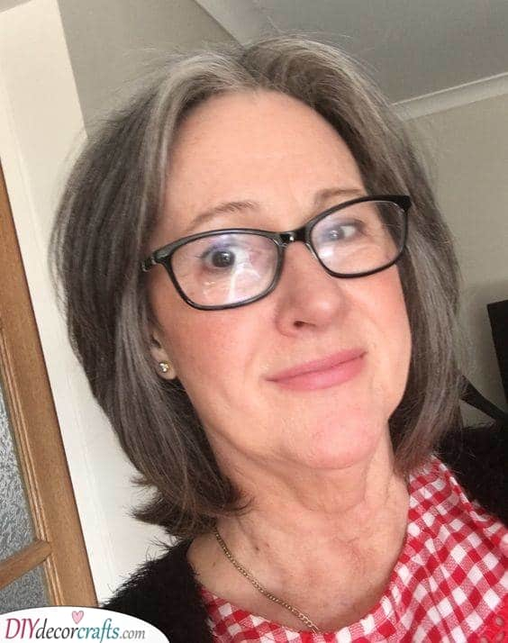 Simplistic - Short Hairstyles for Women Over 50 with Glasses