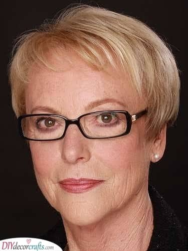 Conservative - Hairstyles for 50 Year Old Woman with Glasses