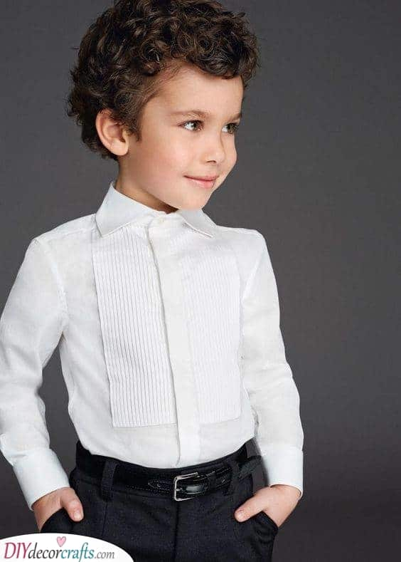 Sleek and Smart - Little Boy Haircuts with Curly Hair