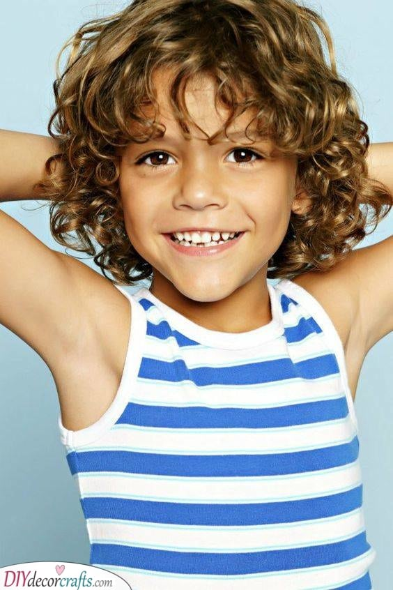 Long Curls - Haircuts for Toddlers with Curly Hair