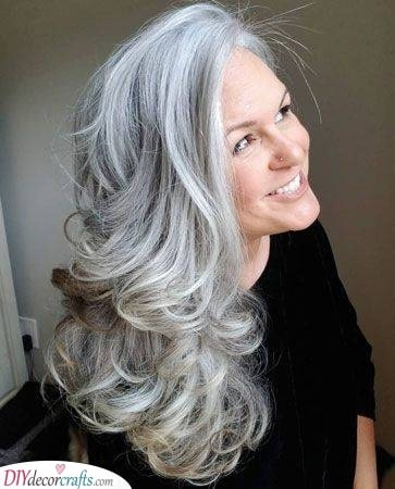 Pretty Curls - Hairstyles for 50 Year Old Woman with Long Hair