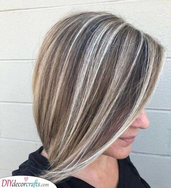 Ashy Hair - Combined with Blonde and Brown