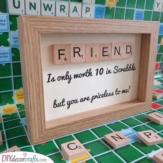 Scrabble Art - Creative and Innovative