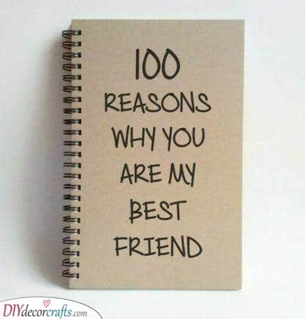 One Hundred Reasons - Best Friend Present Ideas