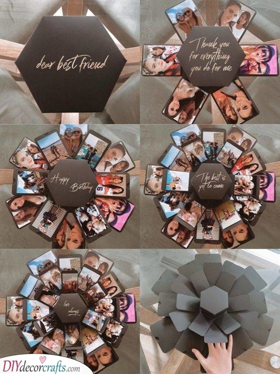 A DIY Explosion Box - Personalised Gifts for Friends