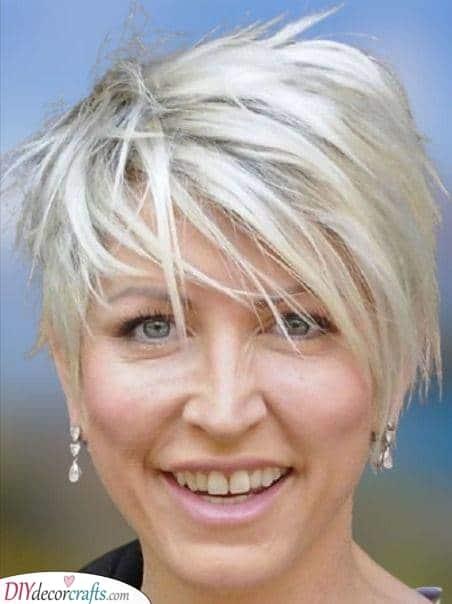 A Longer Pixie - Short Hairstyles for Older Women