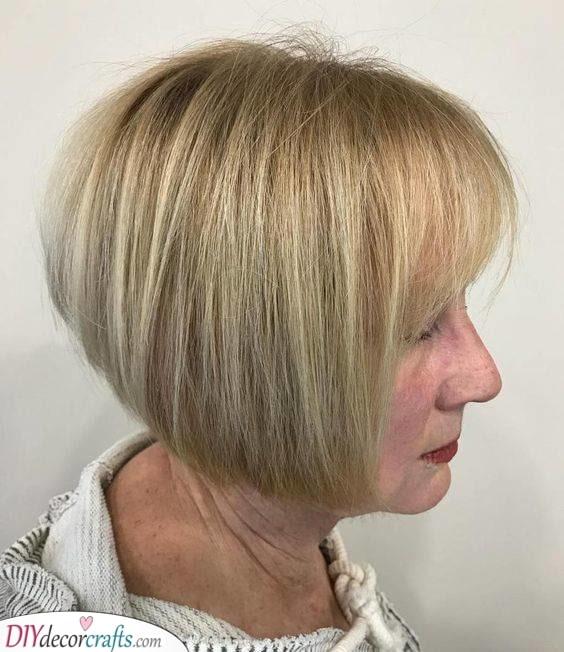 A Short Bob - Short Haircuts for Women over 50
