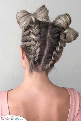 Cute Bow Buns - Hairstyles for Girls with Long Hair