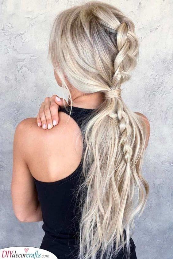 Add a Braid - Simple Hairstyles for Long Hair