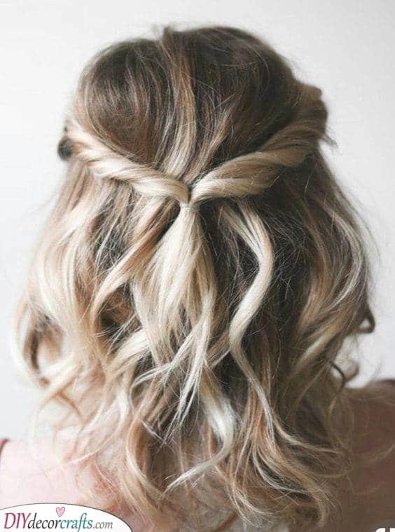 An Elegant Twist - Hairstyles for Medium Length Hair