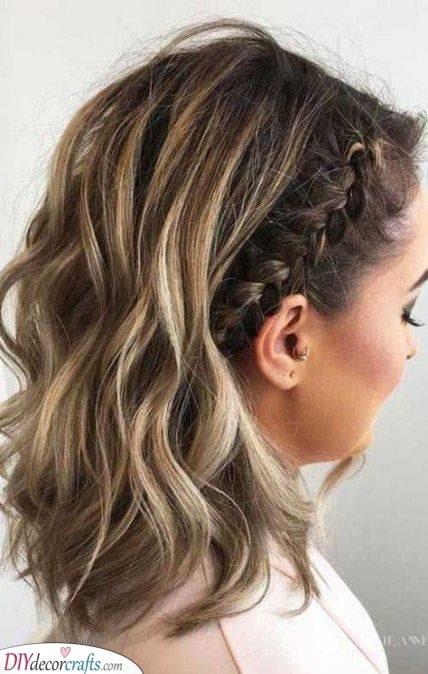 Add a Braid - Medium Haircuts for Women