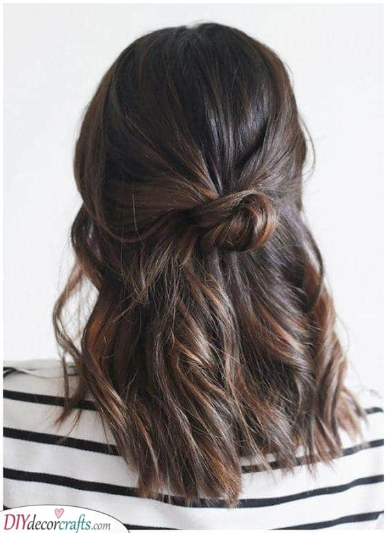 Tied at the Back - Simple and Pretty