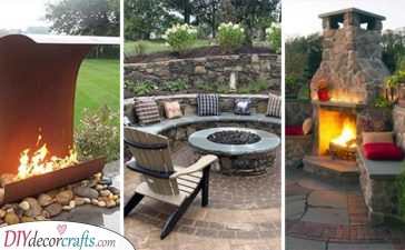 20 OUTDOOR FIREPLACE IDEAS - Backyard Fireplace Ideas