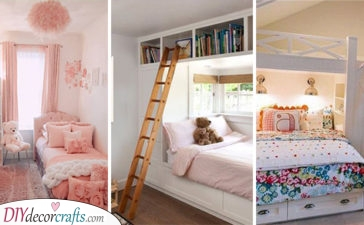 20 GIRLS BEDROOM IDEAS FOR SMALL ROOMS - Small Bedroom Ideas for Girls