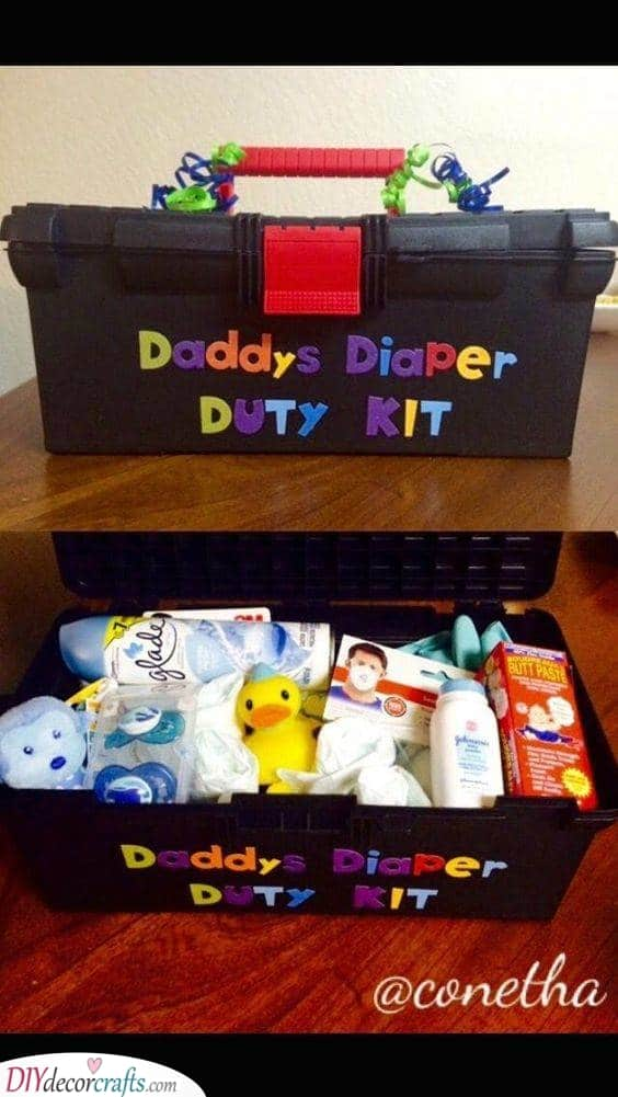 A Diaper Duty Kit - Best Baby Shower Gifts