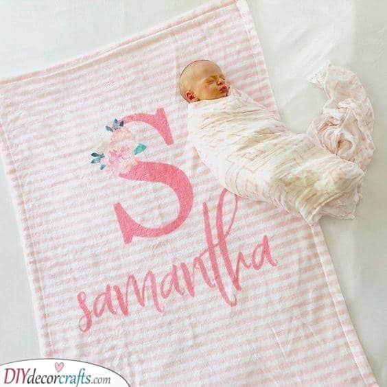 A Monogram Blanket - Brilliant and Adorable