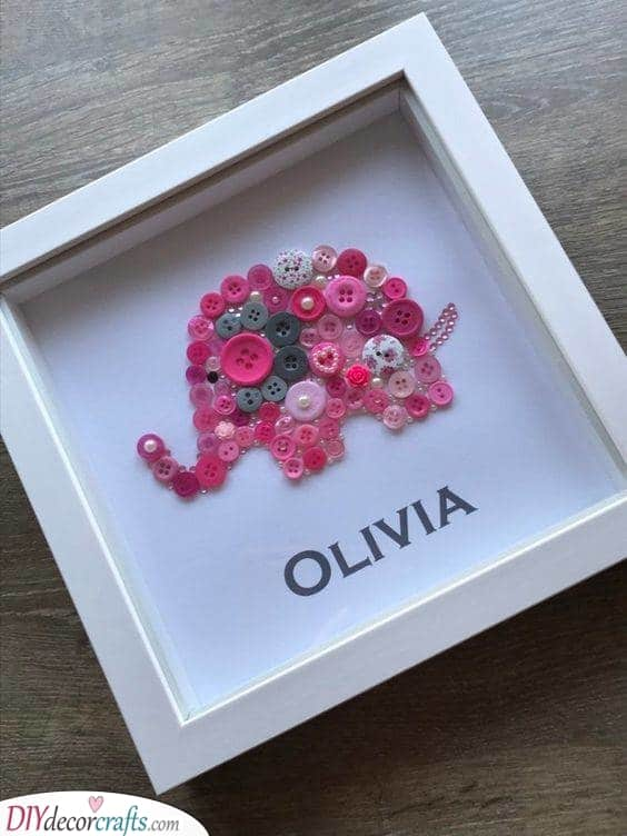 Art with Buttons - Best Baby Shower Gifts