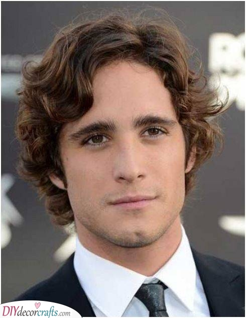 Parted on the Side - Hairstyles for Boys with Curly Hair
