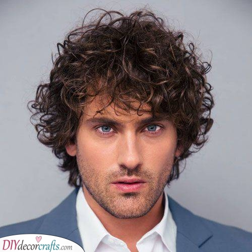 Windswept and Messy - Hairstyles for Boys with Curly Hair