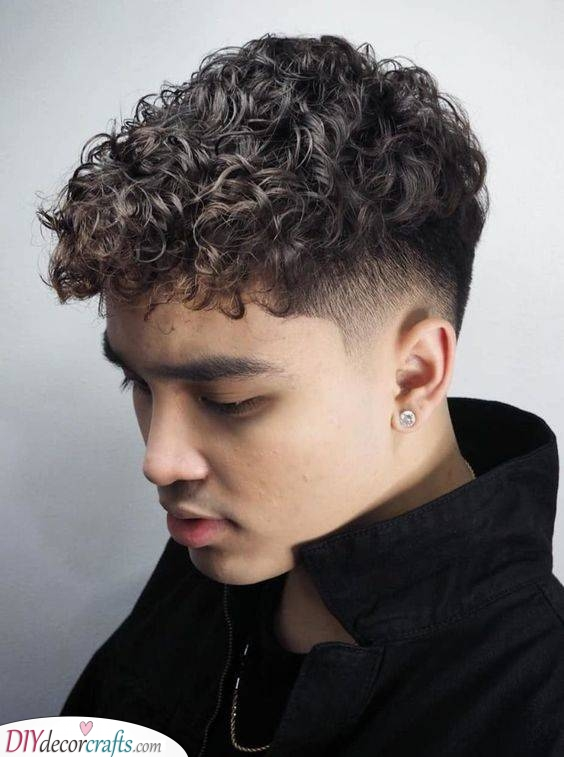 A Fade Haircut - Hairstyles for Boys with Curly Hair